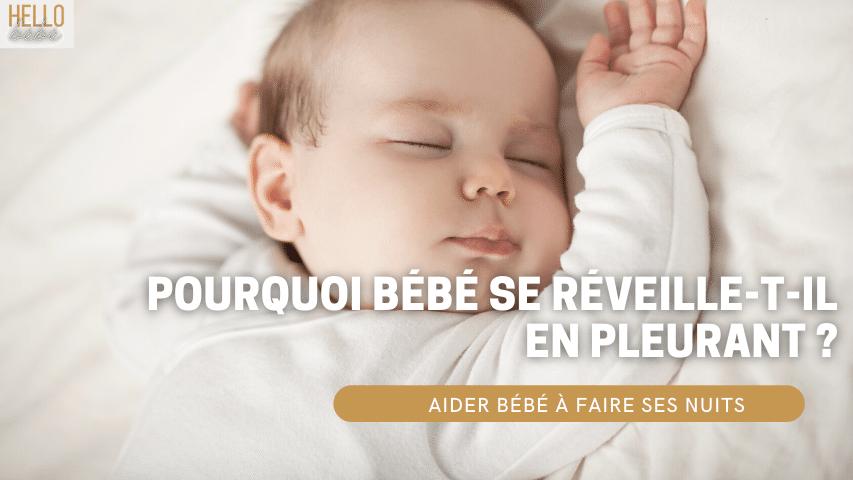 sommeil bébé pleure